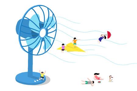 Ilustración de Cool Summer, what do need for hot summer. - Imagen libre de derechos