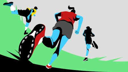 Illustration pour Vector - Dynamic sports, running 010. - image libre de droit