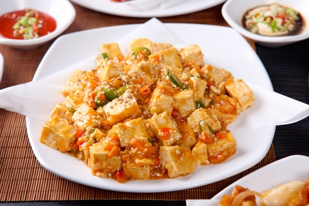 Mapa Tofu (Ground pork and sweet sauce with vegetables)