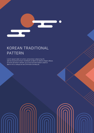 Illustration pour 2019 new year poster, banner, and brochure design. Korean traditional background vector illustration. - image libre de droit