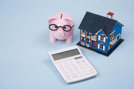 Household budget concept, home budget planning expenses and target money saving props photo 199