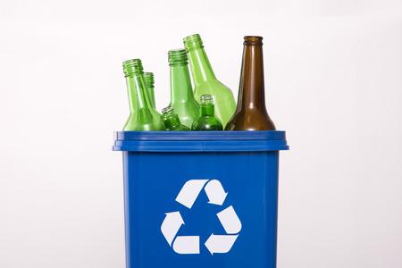 Foto de Recycling concept, Garbage for recycling with recycling symbol. Environmental protection concept photo. - Imagen libre de derechos