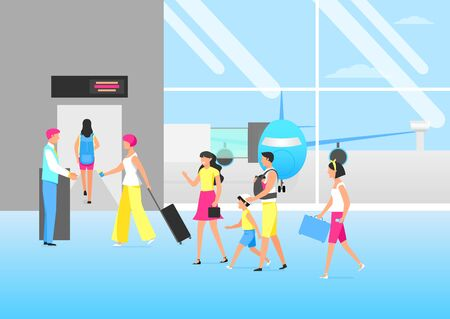 Transportation and travel concept illustration