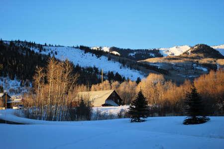 Rural Barn in Park City, Utah in Early Morning