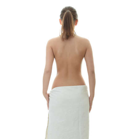 Young beautiful woman wering towel - spa concept