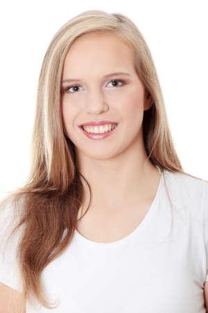Teen girl isoalated on white background
