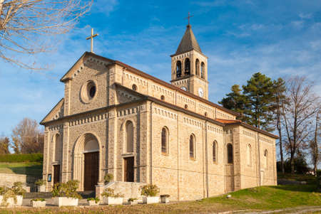 The sanctuary of Nostra Signora di Montelungo, an historic church in the Oltrepo Pavese (Lombardy, Italy)