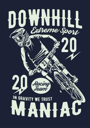 Illustration pour Downhill bike vector illustration - image libre de droit