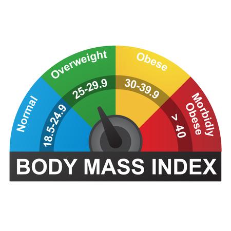 Ilustración de BMI or Body Mass Index Infographic Chart - Imagen libre de derechos