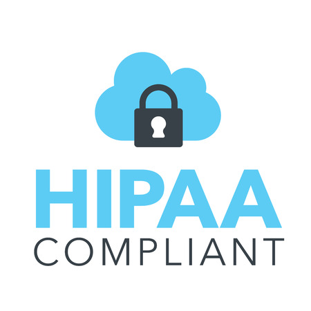 Illustration pour HIPAA Compliance Icon Graphic with Medical Security Symbol - image libre de droit