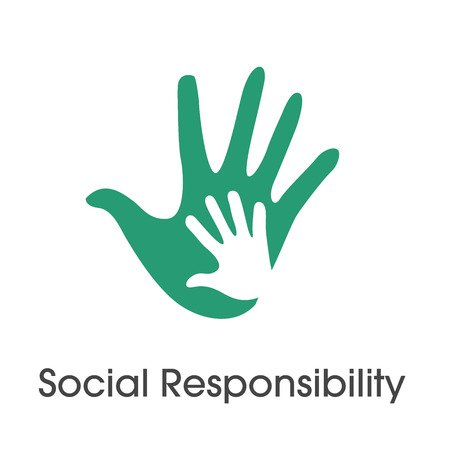 Photo for Social Responsibility Solid Icon Set with Honesty, integrity, collaboration, etc  - Royalty Free Image