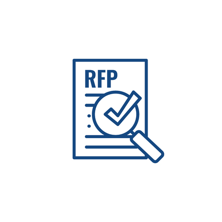 RFP Icon - request for proposal concept - idea