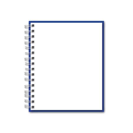 Illustration pour Vector Blank Realistic Notebook - image libre de droit