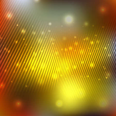 Bright shining with particles on blurred background. Vector illustration for your design
