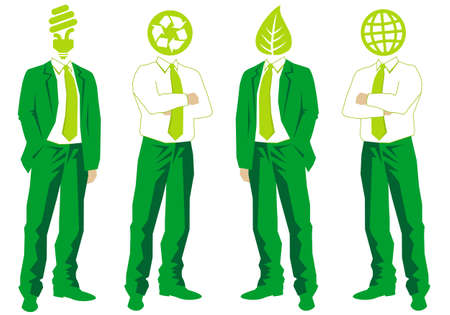 ecological thinking green businessmen