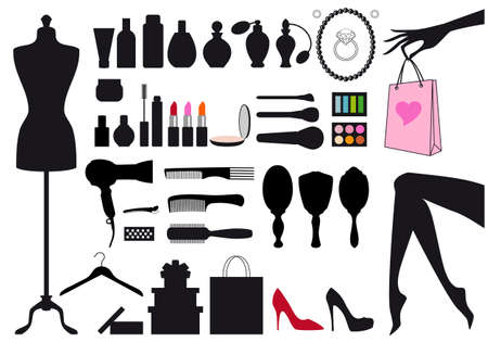 fashion and beauty, set of design elements