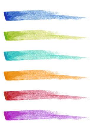 set of paint brush strokes, vector design elements