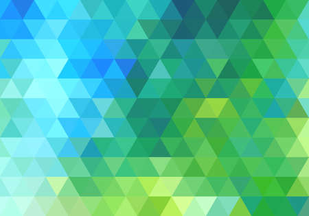 Ilustración de abstract green blue geometric vector background, triangle pattern - Imagen libre de derechos