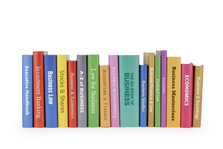 Business books on white
