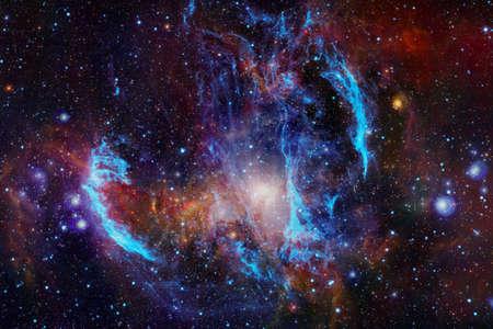 Deep space art. Starfield stardust, nebula and galaxy.