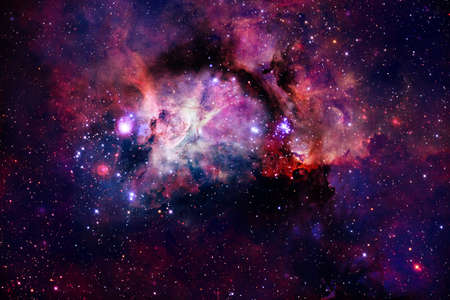 Photo for Nebulas, galaxies and stars in beautiful composition. Awesome print for wallpaper. - Royalty Free Image
