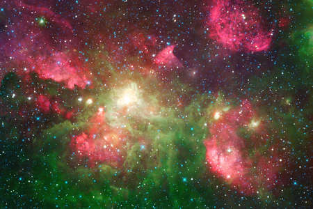 Photo for Nebula, cluster of stars in deep space. Science fiction art. - Royalty Free Image