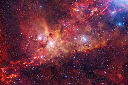 Photo for Nebula, cluster of stars in deep space. - Royalty Free Image