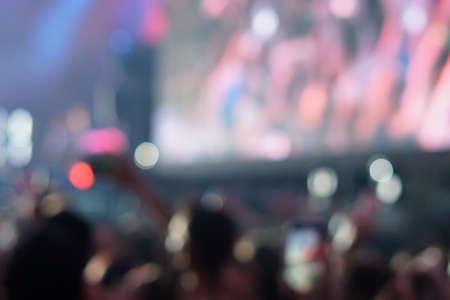 Photo pour concert background, hand up , blurry background, beautiful bokeh live concert - image libre de droit