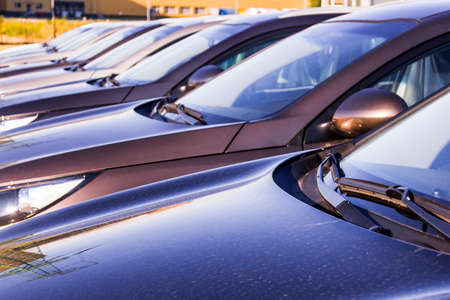Photo for parking of new cars - Royalty Free Image