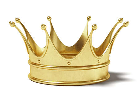 Very high resolution rendering of a gold crown
