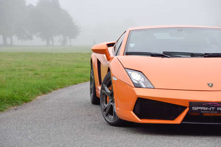 September 11,2015: Lamborghini Gallardo at le Circuit de Lohéac,France.
