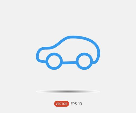 Illustration for Pictograph of car, logo Vector illustration - Royalty Free Image
