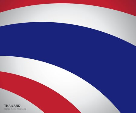 Illustration for Thailand national flag waving - Royalty Free Image