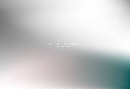 Illustration pour Gradient gray abstract background. Blurred smooth gray color, bright light effect holographic, silver graphic soft design wallpaper, vector illustration - image libre de droit