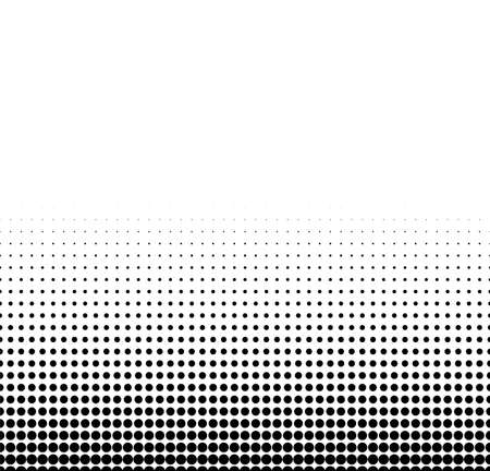 Illustration pour Abstract halftone dotted background. Futuristic grunge pattern, dot, wave. Vector modern optical pop art texture for posters, sites, business cards, cover, labels mock-up, vintage layout - image libre de droit