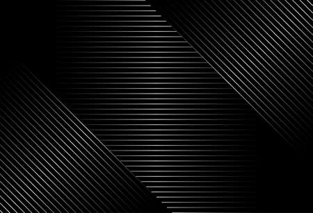 Illustration for abstract black background with diagonal lines, Gradient vector retro line pattern design. Monochrome graphic. - Royalty Free Image