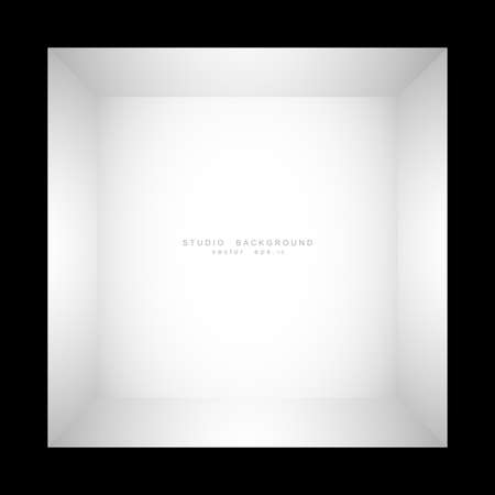 Illustration pour Empty white grey gradient studio room background. backdrop light interior with copyspace for your creative project, Vector illustration EPS 10 - image libre de droit