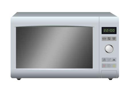 Illustrazione per Modern microwave. Vector. - Immagini Royalty Free