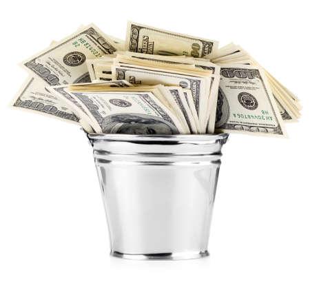 Dollar in pail