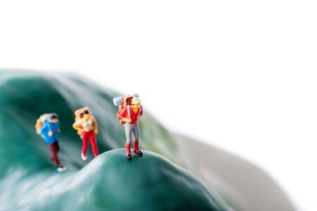 Climbers, miniature dolls