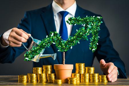 Photo pour Businessmen with plants - image libre de droit
