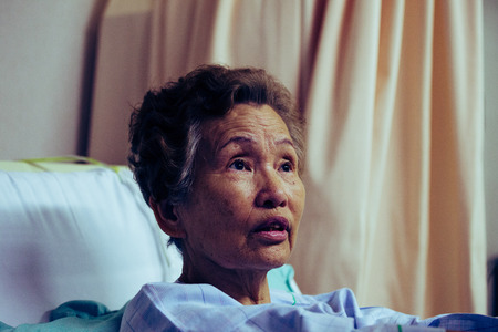 Elderly women hospitalized