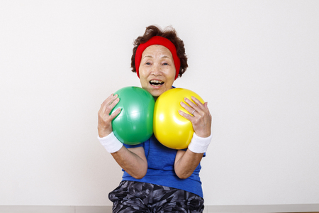 Photo for Exercise and elderly women of Asian - Royalty Free Image
