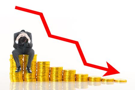 Photo pour Down money and businessmen - image libre de droit