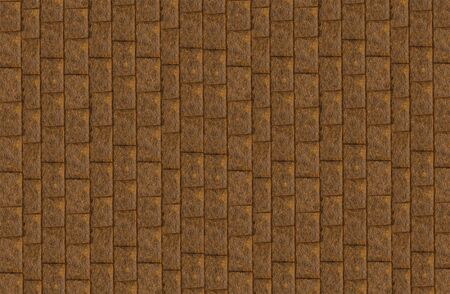 Photo for brown stone background a lot of cobblestone vertical pattern background dark - Royalty Free Image