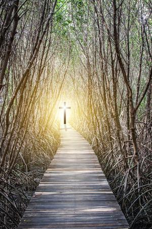 Photo pour Concept of the Way to the Cross of Jesus Christ - image libre de droit