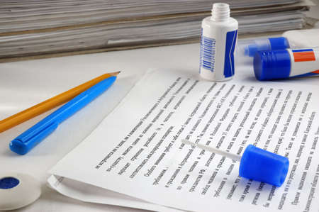 correction mistakes in documents