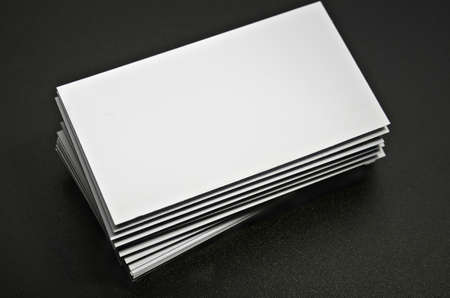blank business card against a dark background