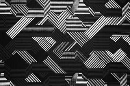 Photo for Fabric texture with abstract lines.Fabric background with black and white lines.Abstract black and white background. - Royalty Free Image