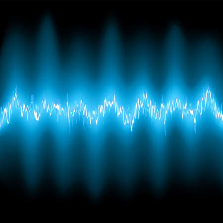 Abstract blue glow Frequency Waveforms. EPS 8 vector file included